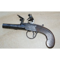 Flintlock Box-Lock Pistol by Bolton of Wigan