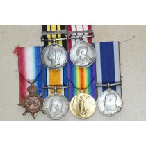 Medal Group comprising of Gambia 1894, Persian Gulf 1909-1914, ERVII Naval L.S.G.C. & WW1 Trio.