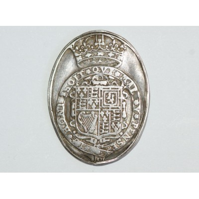 17th Century English Silver Royalist Medal