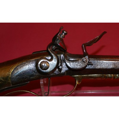 A very unusual Flintlock Sporting Gun with A Hollow Brass Butt