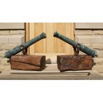 A Fine Pair of Georgian Bronze Naval Swivel Cannon