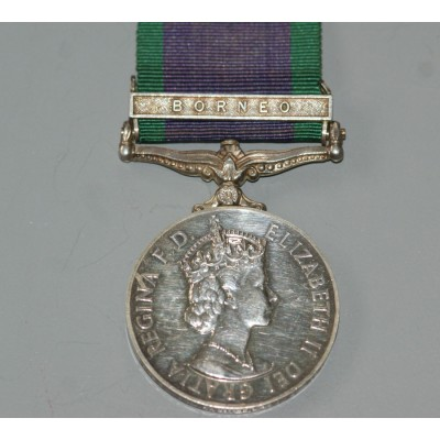 General Service Medal 1962 with Borneo Clasp to RM.23029 J Booth. MNE. RM.
