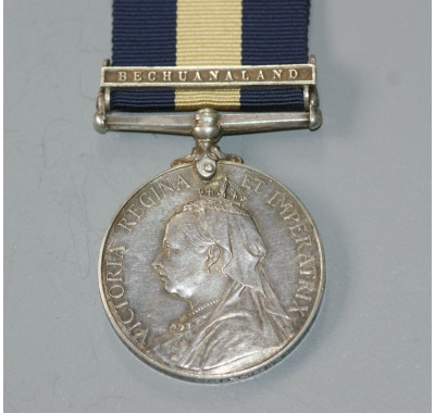 CAPE OF GOOD HOPE GENERAL SERVICE MEDAL WITH BECHUANALAND CLASP to PTE. H.M.JONES.