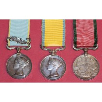 Medal Group Comprising of Baltic Medal, Crimea with Sebastapol Clasp Engraved To Thomas John Harris, H.M.S. Retribution Along with a Turkish Crimea Medal.
