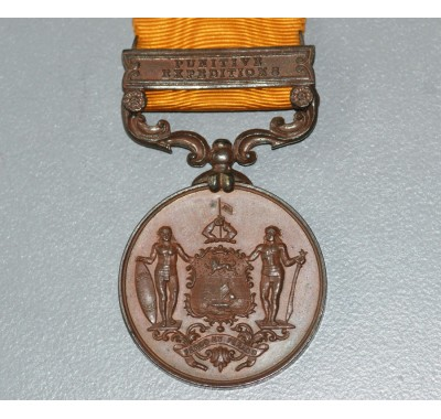 BRITISH NORTH BORNEO MEDAL 1897-1916, 1 CLASP, PUNITIVE EXPEDITIONS.