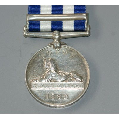 Egypt Medal 1882-89 with Alexandria 11th July Clasp, H.M.S. Inflexible.