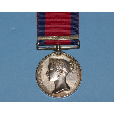 Military General Service Medal, Java Clasp to Thomas Light, 59th Foot