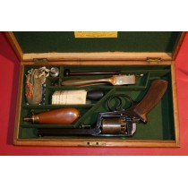 Superb Cased 54 Bore Adams Patent Percussion Revolver