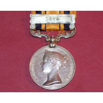 "South Africa Medal with ""1879"" Clasp to 971 PTE W Barnes, 2/4th Foot."