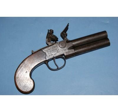 Calverts of Leeds O/U Tap Action Flintlock Pistol Sold!